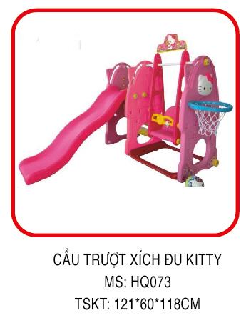Cầu trượt xích đu kitty